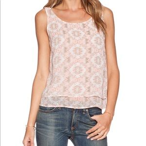 BCBGeneration Pink and Grey Tank